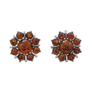 Baltic Amber Flower Earrings by Imperial Time