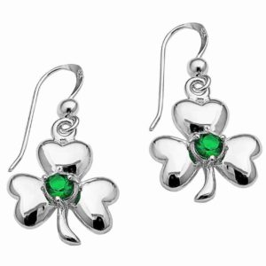 clover earrings .925 Sterling Silver Celtic Earrings