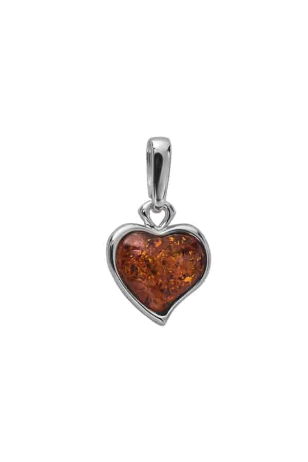 Sweet Heart Baltic Amber Necklace Pendant